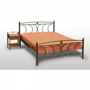 Κρήτη Κρεβάτι Ημίδιπλο Μεταλλικό 110x190cm