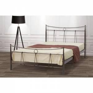 Δίας Κρεβάτι Ημίδιπλο Μεταλλικό 110x190cm