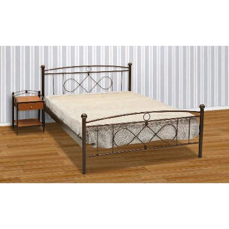 Μπίλια Κρεβάτι Μονό Μεταλλικό 90x190cm