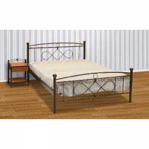 Μπίλια Κρεβάτι Ημίδιπλο Μεταλλικό 110x190cm