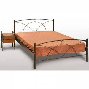 Νάξος Κρεβάτι Μονό Μεταλλικό 90x190cm