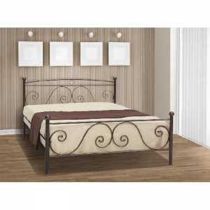 Ρόδος Κρεβάτι Ημίδιπλο Μεταλλικό 110x190cm
