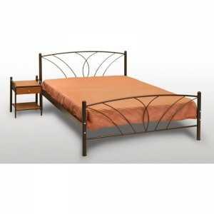 Τήνος Κρεβάτι Ημίδιπλο Μεταλλικό 110x190cm
