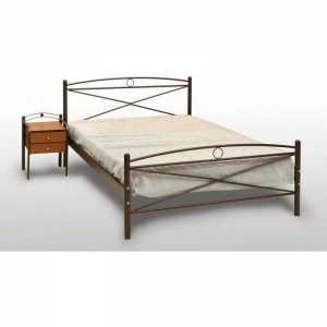 Χίος Κρεβάτι Ημίδιπλο Μεταλλικό 110x190cm