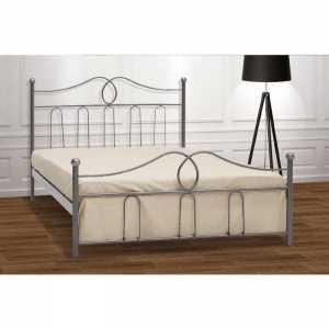 Καμπάνα Κρεβάτι Ημίδιπλο Μεταλλικό 110x190cm