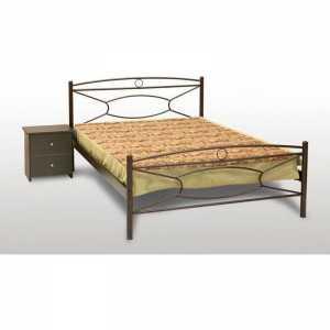 Κρίκος Κρεβάτι Ημίδιπλο Μεταλλικό 110x190cm