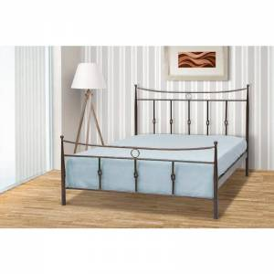 Κρόνος Κρεβάτι Ημίδιπλο Μεταλλικό 110x190cm