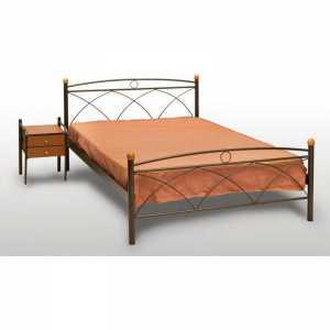 Κως Κρεβάτι Ημίδιπλο Μεταλλικό 110x190cm