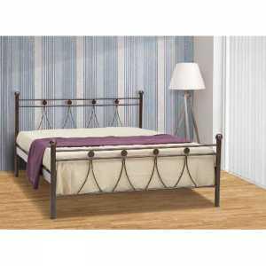 Λάμδα Κρεβάτι Ημίδιπλο Μεταλλικό 110x190cm