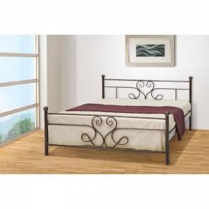 Ορίων Κρεβάτι Ημίδιπλο Μεταλλικό 110x190cm