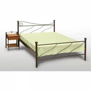 Πάρος Κρεβάτι Ημίδιπλο Μεταλλικό 110x190cm
