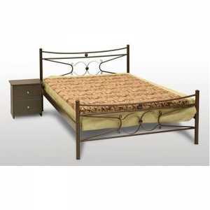 Πέταλο Κρεβάτι Ημίδιπλο Μεταλλικό 110x190cm