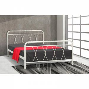 Ρομβάκι Κρεβάτι Ημίδιπλο Μεταλλικό 110x190cm