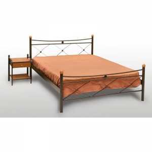 Χιαστή Κρεβάτι Ημίδιπλο Μεταλλικό 110x190cm