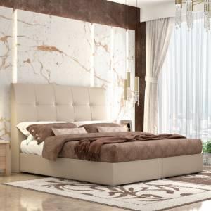 Κρεβάτι Νο60 Με Μηχανισμό Μπεζ