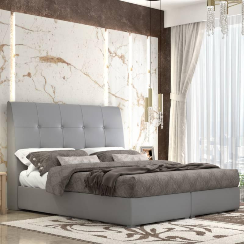 Κρεβάτι Νο60 Με Μηχανισμό Γκρι