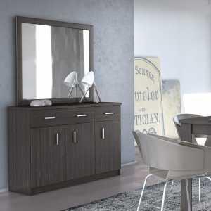 Μπουφές Με 3 Πόρτες Και Καθρέφτη