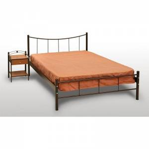 Χαμόγελο Κρεβάτι Ημίδιπλο Μεταλλικό 110x190cm