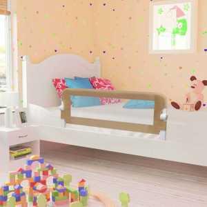 Μπάρα Κρεβατιού Προστατευτική Χρώμα Taupe 102x42 εκ Πολυεστέρας