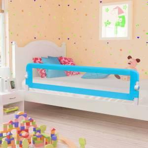 Μπάρα Κρεβατιού Προστατευτική Μπλε 180 x 42 εκ. από Πολυεστέρα