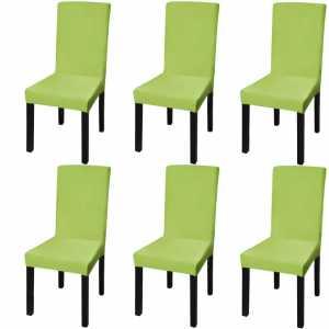 Κάλυμμα Καρέκλας Ελαστικό Ίσιο 6 τεμ. Πράσινο