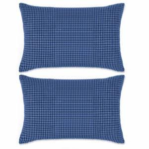 Σετ Μαξιλαριών 2 τεμ. Μπλε 40 x 60 εκ. Βελουτέ