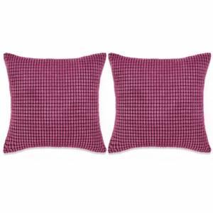 Σετ Μαξιλαριών 2 τεμ. Ροζ 60 x 60 εκ. Βελουτέ