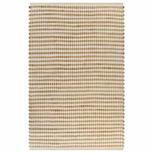 Χαλί Χειροποίητο Φυσικό Χρώμα/Λευκό 120 x 180 εκ. Υφαντή Γιούτα