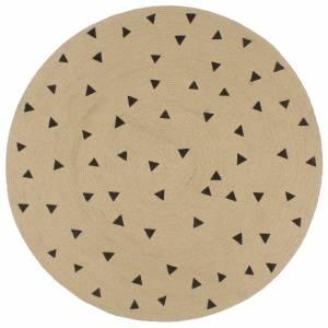 Χαλί Χειροποίητο 150 εκ. από Γιούτα με Σχέδιο Τρίγωνα