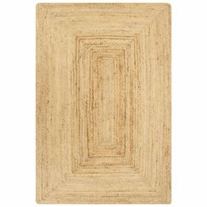 Χαλί Χειροποίητο Φυσικό Χρώμα 120 x 180 εκ. από Γιούτα