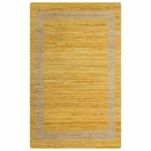 Χαλί Χειροποίητο Κίτρινο 160 x 230 εκ. από Γιούτα