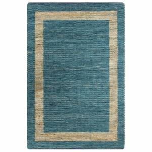 Χαλί Χειροποίητο Μπλε 120 x 180 εκ. από Γιούτα