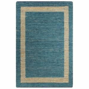 Χαλί Χειροποίητο Μπλε 160 x 230 εκ. από Γιούτα
