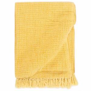 Ριχτάρι Κίτρινο Μουσταρδί 160 x 210 εκ. Βαμβακερό
