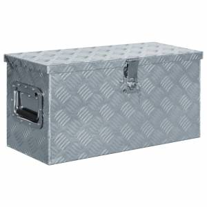 Κουτί Αποθήκευσης Ασημί 61,5 x 26,5 x 30 εκ. Αλουμινίου