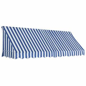 Τέντα Bistro Μπλε / Λευκό 300 x 120 εκ.