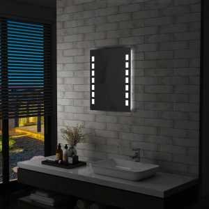 Καθρέφτης Μπάνιου Τοίχου με LED 50 x 60 εκ.