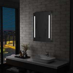 Καθρέφτης Μπάνιου Τοίχου με LED 60 x 80 εκ.