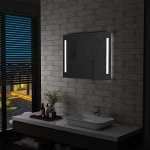 Καθρέφτης Μπάνιου Τοίχου με LED 80 x 60 εκ.