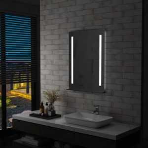 Καθρέφτης Μπάνιου Επιτοίχιος με LED & Ράφι 60 x 80 εκ.