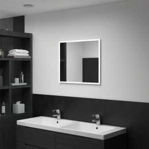 Καθρέφτης Μπάνιου Τοίχου με LED 60 x 50 εκ.