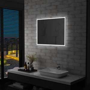 Καθρέφτης Μπάνιου Επιτοίχιος με LED 80 x 60 εκ.