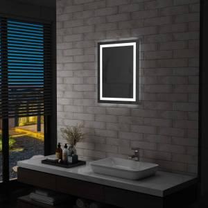 Καθρέφτης Μπάνιου με LED & Διακόπτη Αφής 50 x 60 εκ.