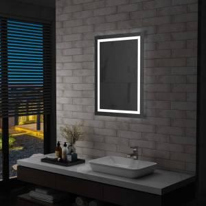Καθρέφτης Μπάνιου με LED & Διακόπτη Αφής 60 x 80 εκ.
