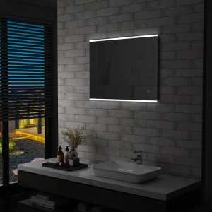 Καθρέφτης Μπάνιου Επιτοίχιος με LED & Διακόπτη Αφής 80x60 εκ.
