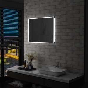 Καθρέφτης Μπάνιου Τοίχου με LED & Διακόπτη Αφής 80x60 εκ.