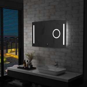 Καθρέφτης Μπάνιου Τοίχου με LED & Διακόπτη Αφής 100x60 εκ.