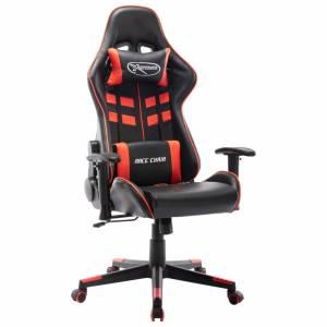 Καρέκλα Gaming Μαύρο/Κόκκινο από Συνθετικό Δέρμα