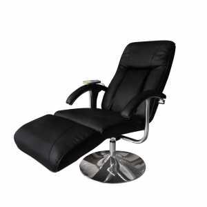 Πολυθρόνα Μασάζ Μαύρη από Συνθετικό Δέρμα