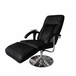 Πολυθρόνα Μασάζ Ηλεκτρική Ρυθμιζόμενη Μαύρη Συνθετικό Δέρμα